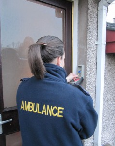 emergency services using a keysafe